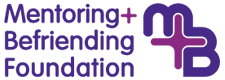 Mentoring and Befriending Foundation logo. Evesham Volunteer Centre is a member of the network